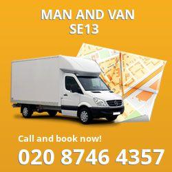 SE13 man and van in Lewisham